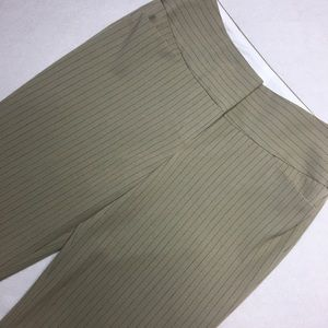 Express Tan Pinstripe Capri Dress Pants - Size 0